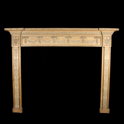Exquisite Pine and Gesso Fire Surround